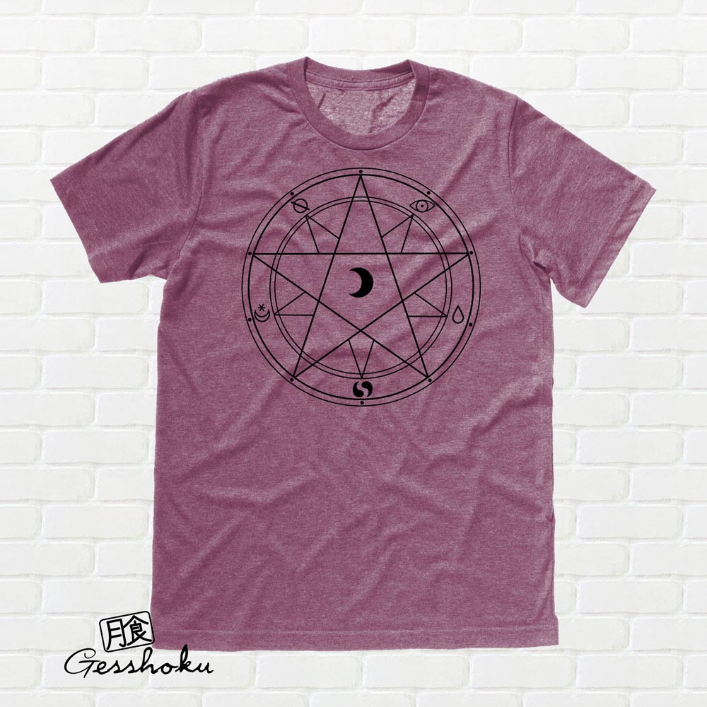 Magic Circle T-shirt - Heather Maroon