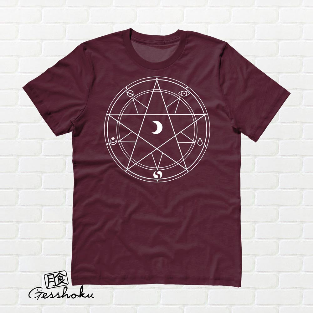 Magic Circle T-shirt - Maroon