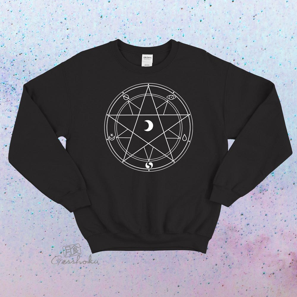 Magic Circle Crewneck Sweatshirt - Black
