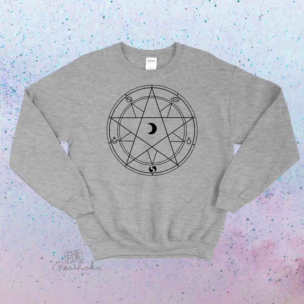Magic Circle Crewneck Sweatshirt - Light Grey
