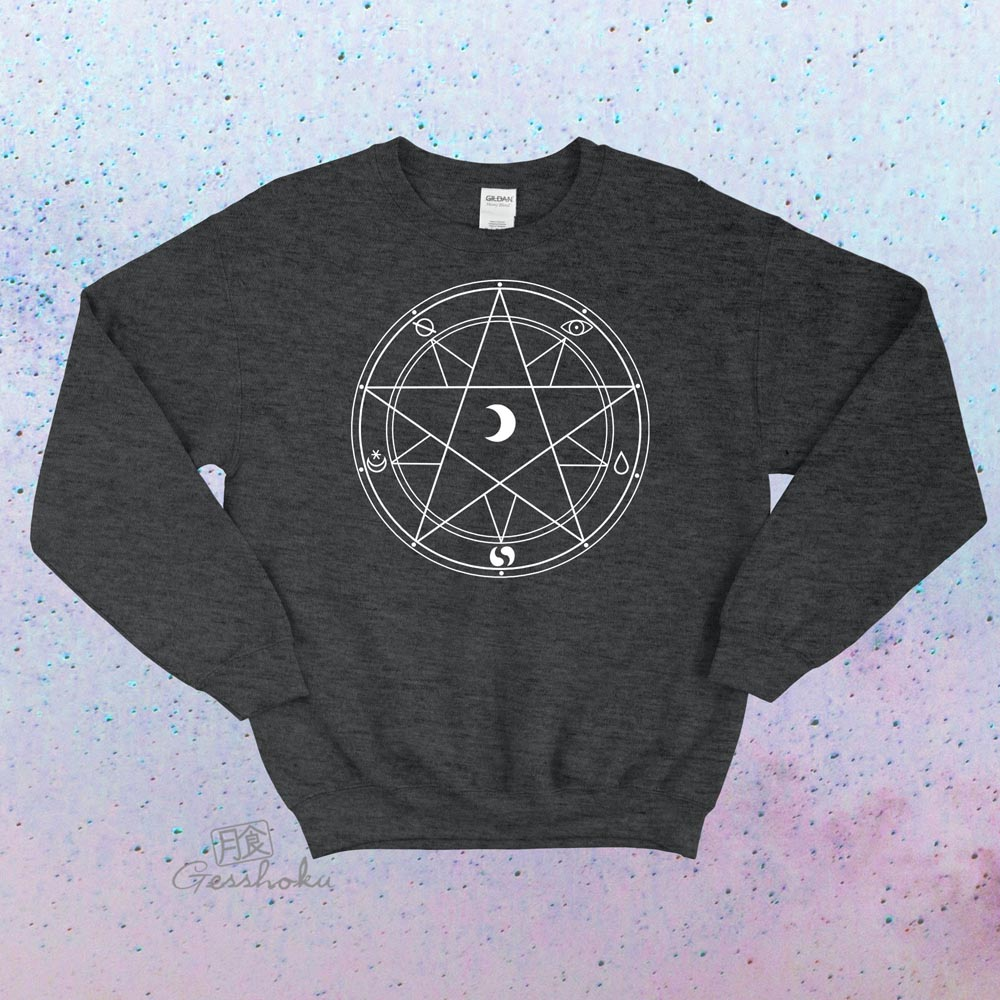 Magic Circle Crewneck Sweatshirt - Heather Black