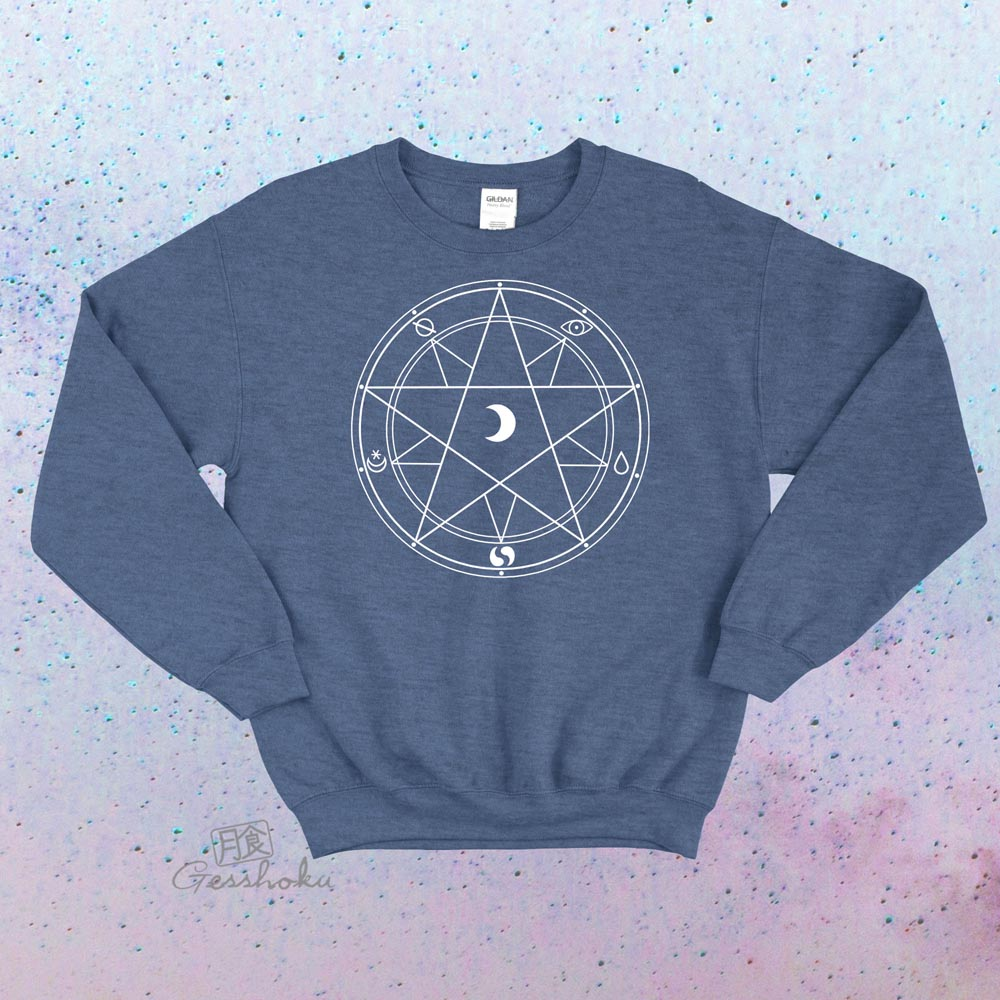 Magic Circle Crewneck Sweatshirt - Heather Blue