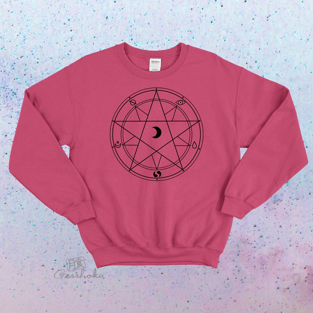 Magic Circle Crewneck Sweatshirt - Hot Pink