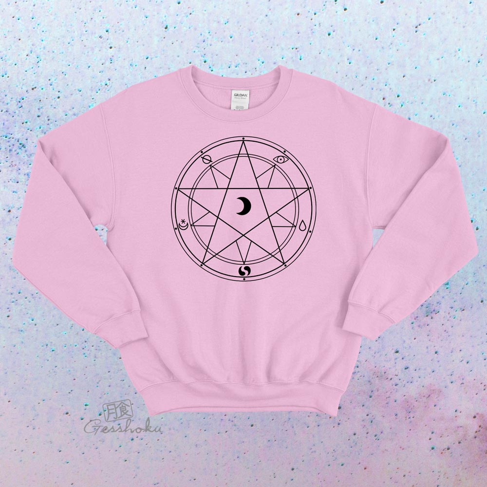 Magic Circle Crewneck Sweatshirt - Light Pink