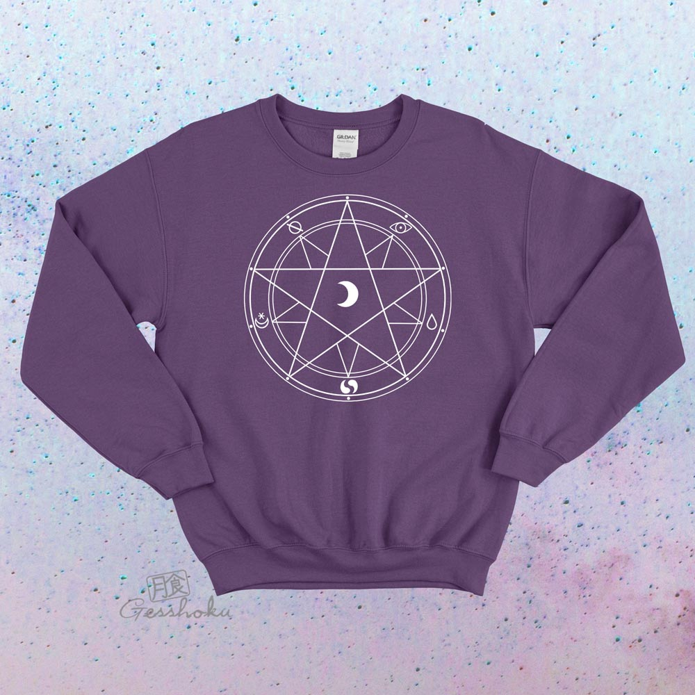 Magic Circle Crewneck Sweatshirt - Purple