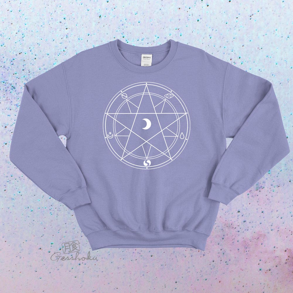 Magic Circle Crewneck Sweatshirt - Violet