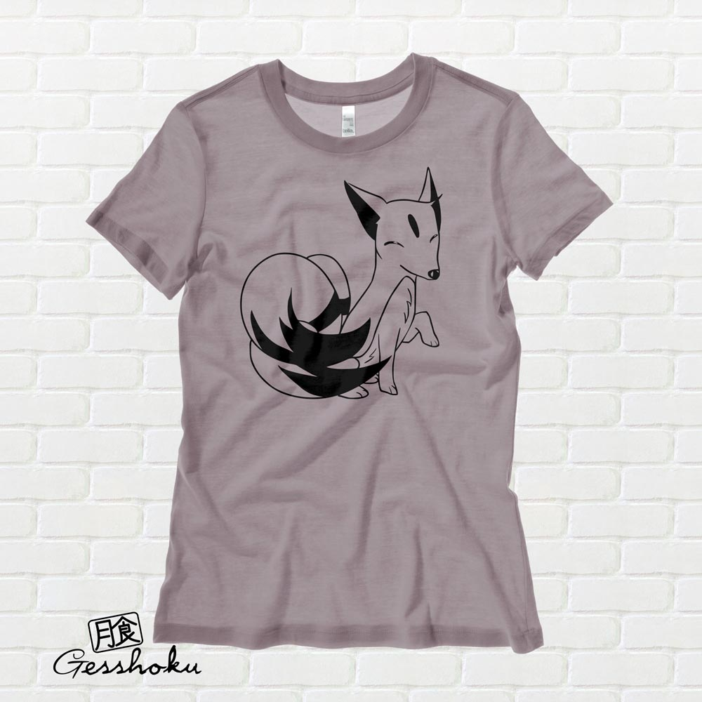 Majestic Kitsune Ladies T-shirt - Pebble Brown