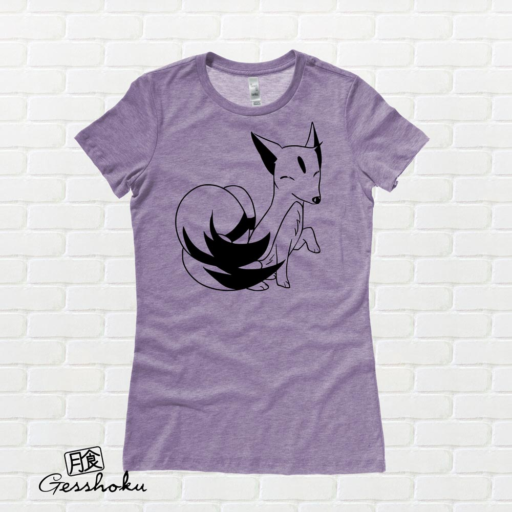 Majestic Kitsune Ladies T-shirt - Heather Purple