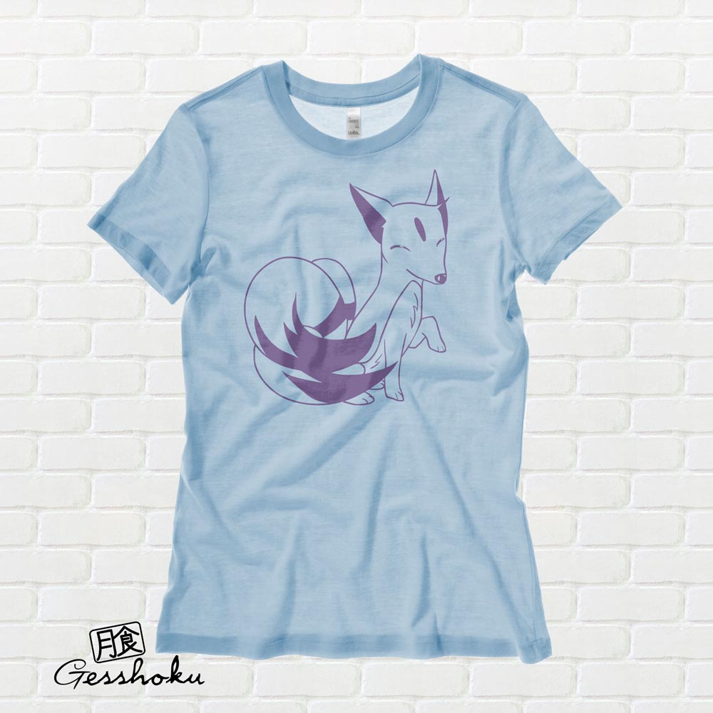 Majestic Kitsune Ladies T-shirt - Light Blue