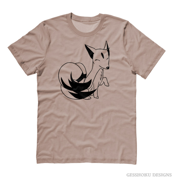 Majestic Kitsune T-shirt - Khaki Brown