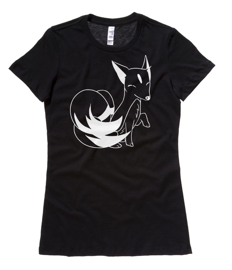 Majestic Kitsune Ladies T-shirt - Black