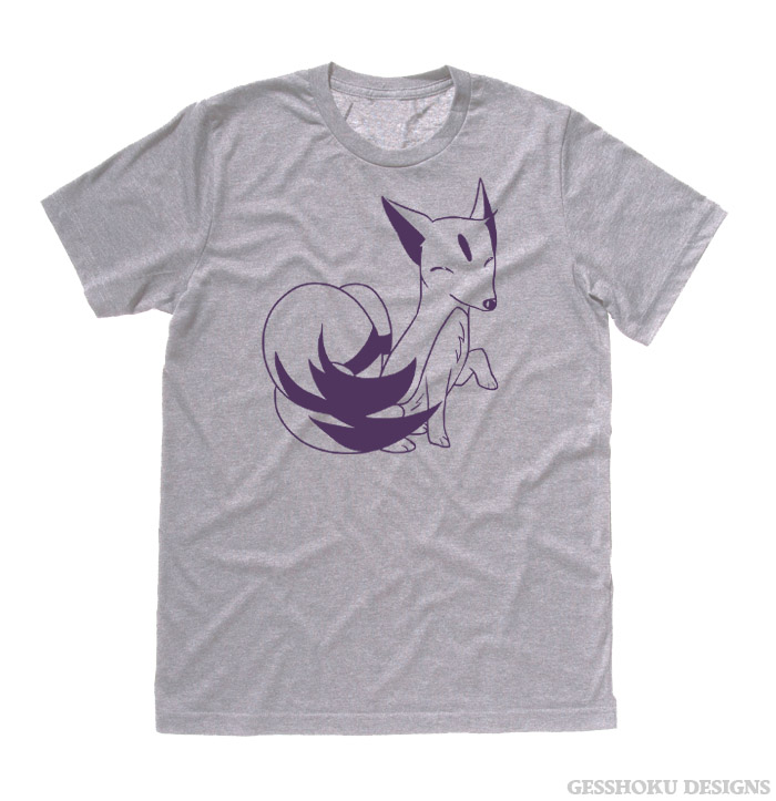 Majestic Kitsune T-shirt - Light Grey