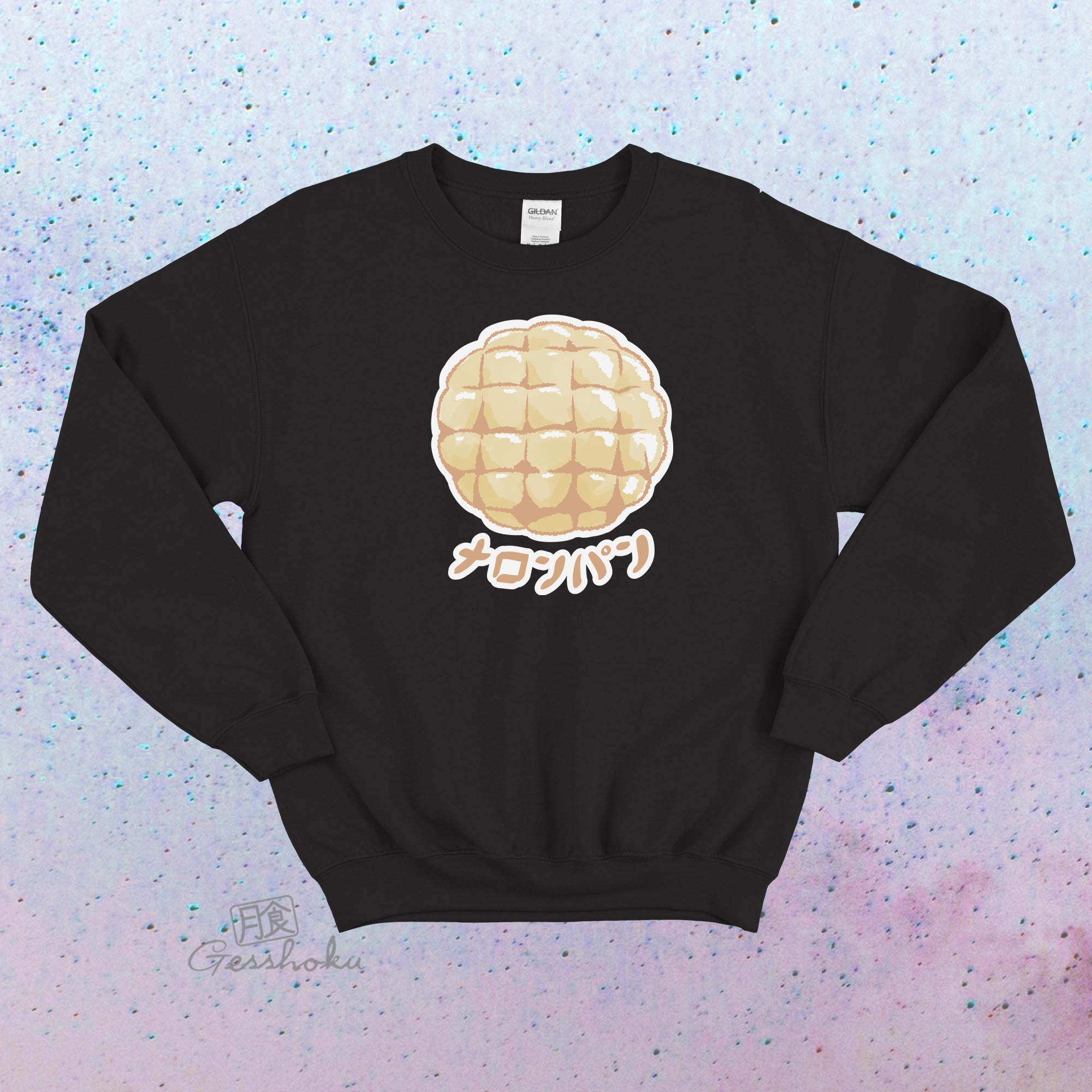Melon Pan Crewneck Sweatshirt - Black