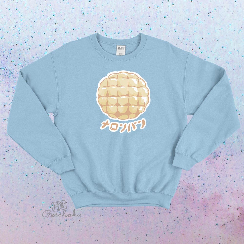 Melon Pan Crewneck Sweatshirt - Light Blue