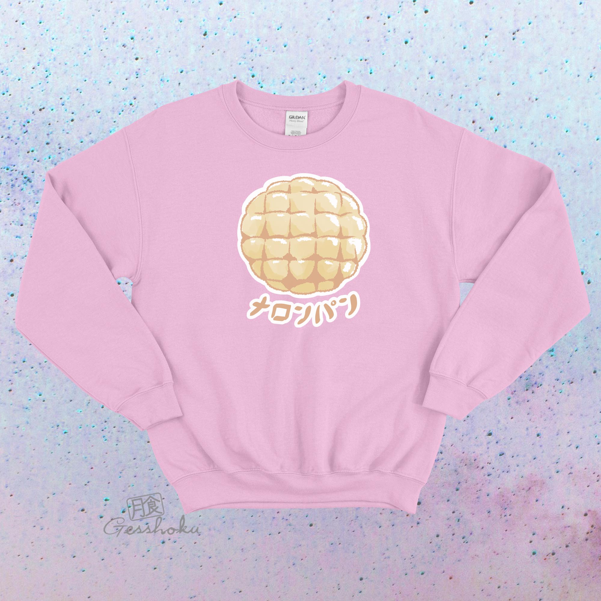 Melon Pan Crewneck Sweatshirt - Light Pink
