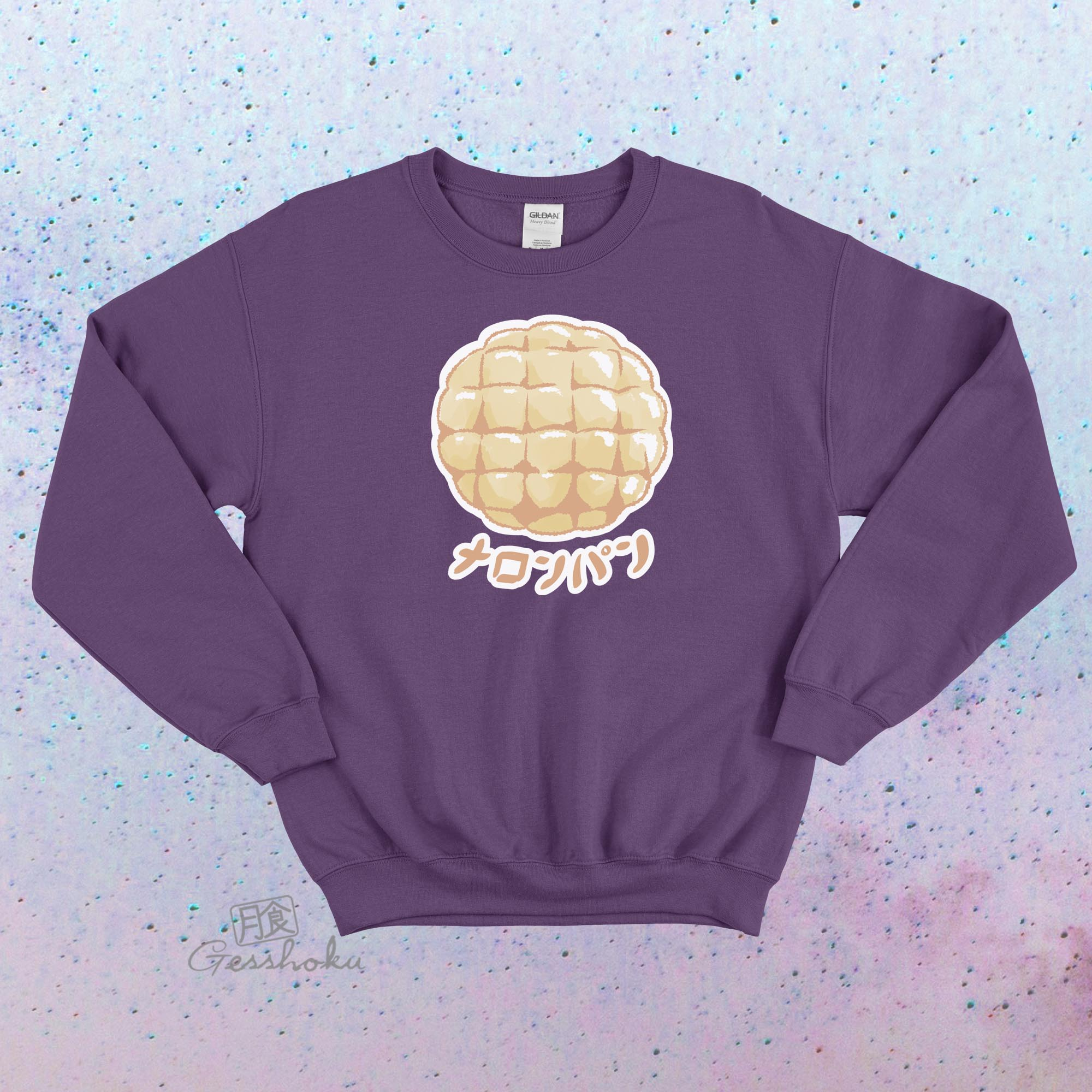 Melon Pan Crewneck Sweatshirt - Purple