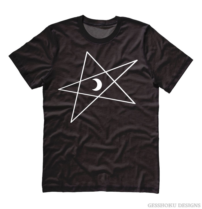 5-Pointed Moon Star T-shirt - Black