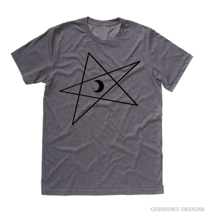 5-Pointed Moon Star T-shirt - Deep Heather Grey