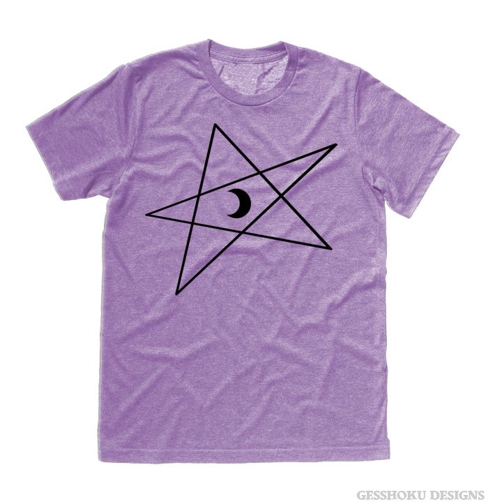 5-Pointed Moon Star T-shirt - Heather Purple