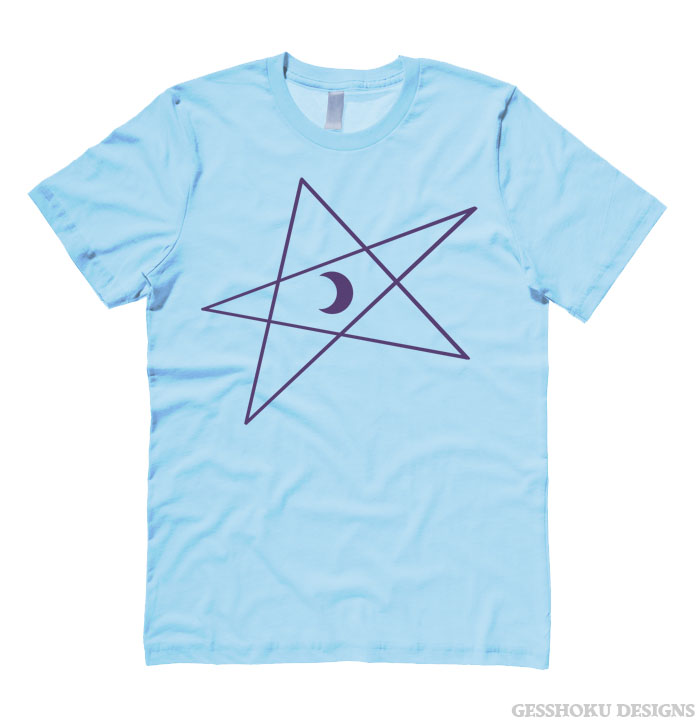 5-Pointed Moon Star T-shirt - Light Blue