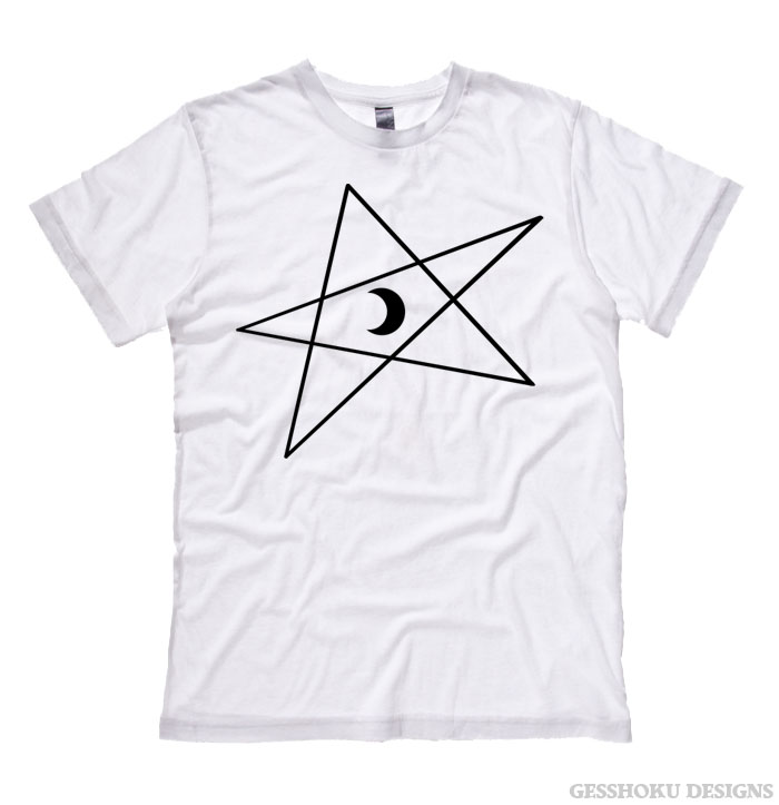 5-Pointed Moon Star T-shirt - White
