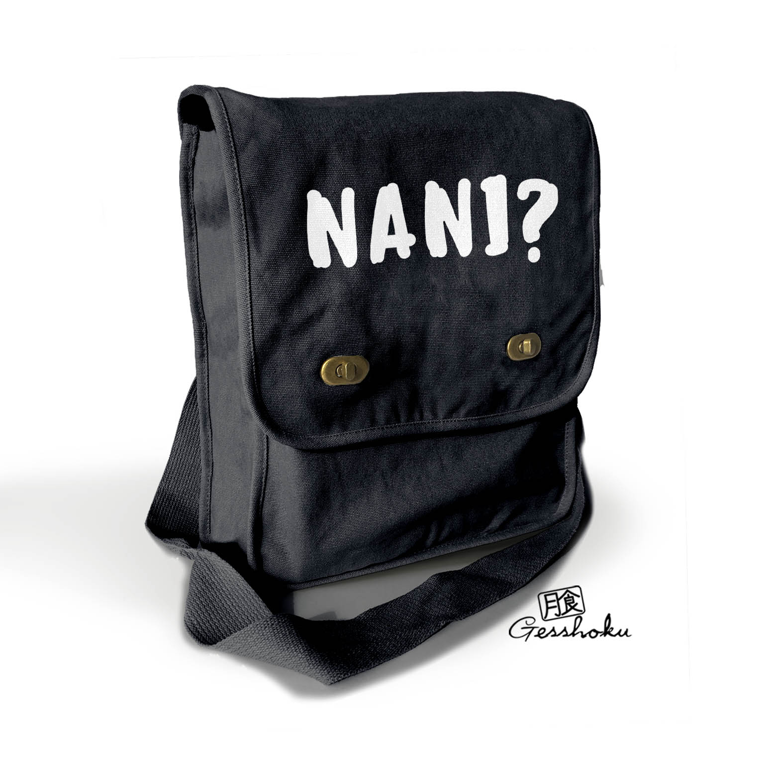 Nani Field Bag (Text version) - Black