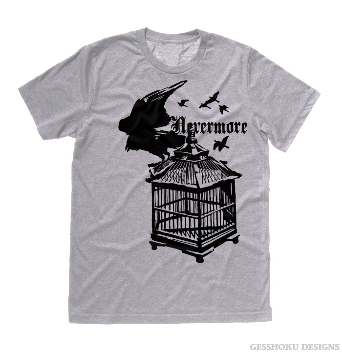 Nevermore: Raven's Cage T-shirt - Light Grey