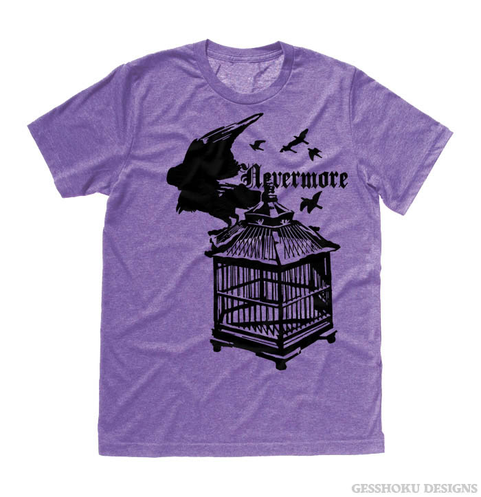Nevermore: Raven's Cage T-shirt - Heather Purple