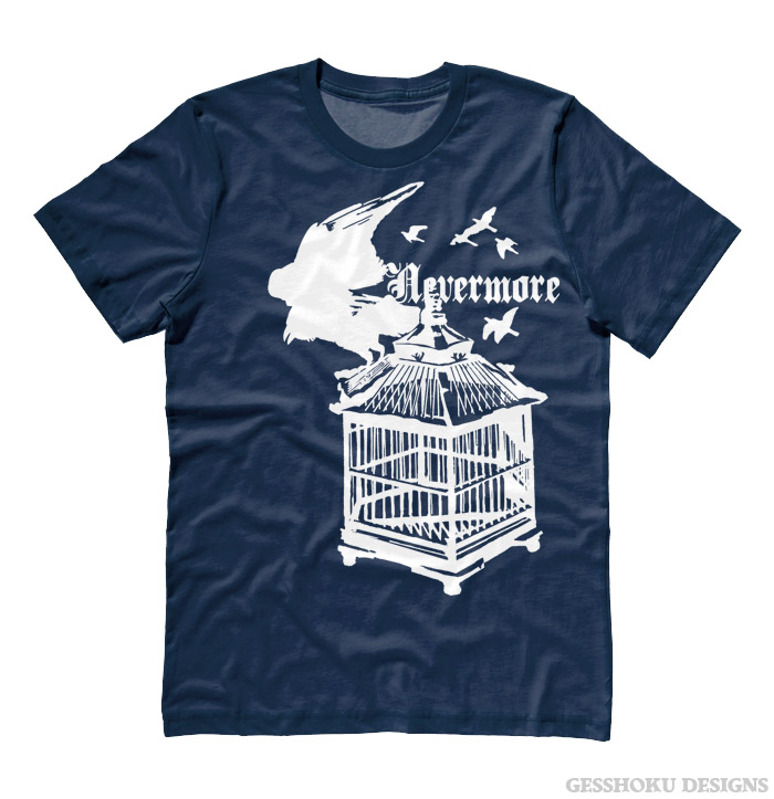 Nevermore: Raven's Cage T-shirt - Heather Navy