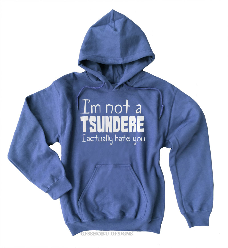 Not a Tsundere Pullover Hoodie - Heather Blue