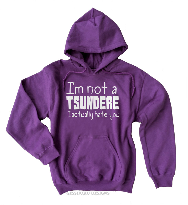 Not a Tsundere Pullover Hoodie - Purple