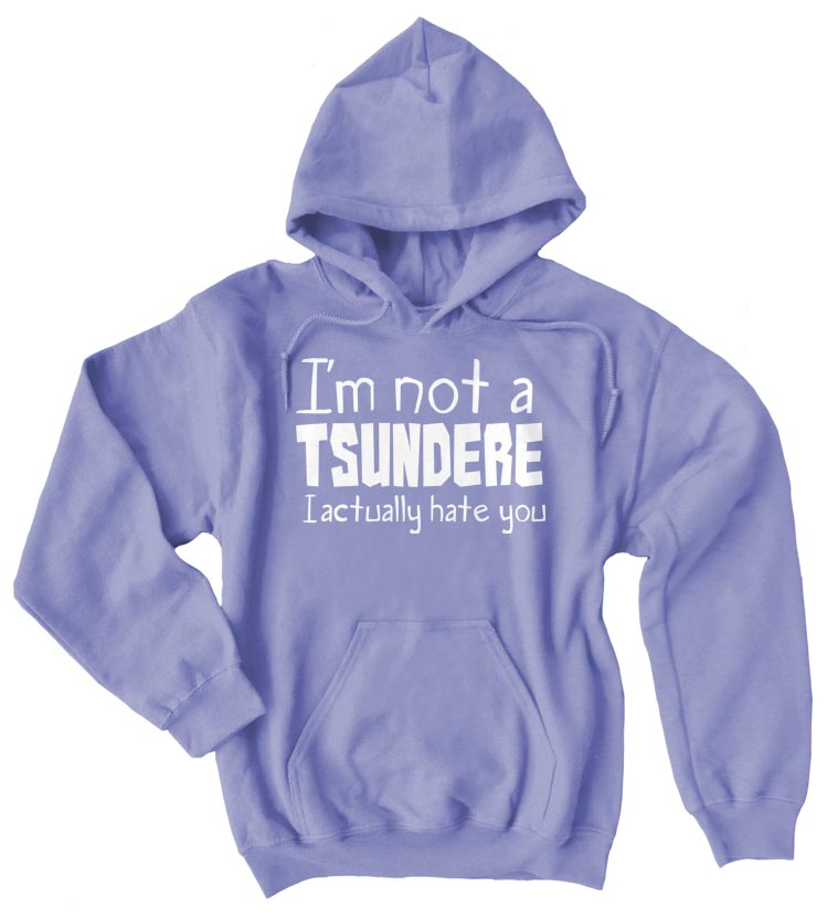 Not a Tsundere Pullover Hoodie - Violet