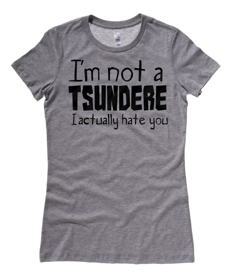 Not a Tsundere Ladies T-shirt - Charcoal Grey