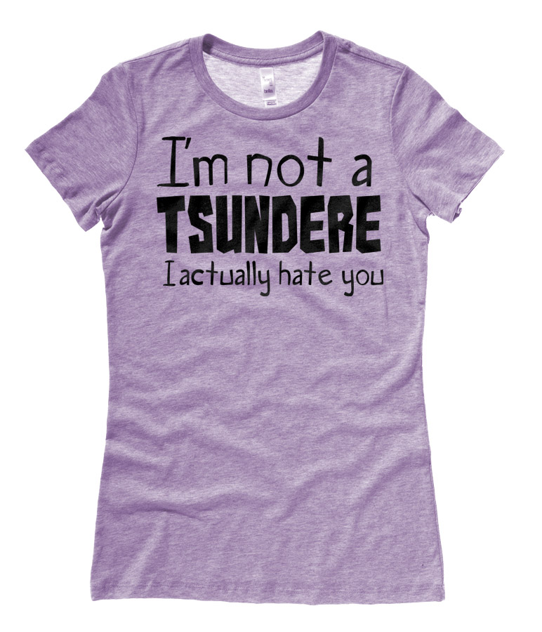 Not a Tsundere Ladies T-shirt - Heather Purple