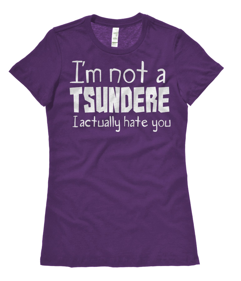 Not a Tsundere Ladies T-shirt - Purple