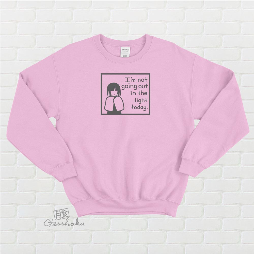 Not Going Out in the Light Crewneck Sweatshirt - Light Pink