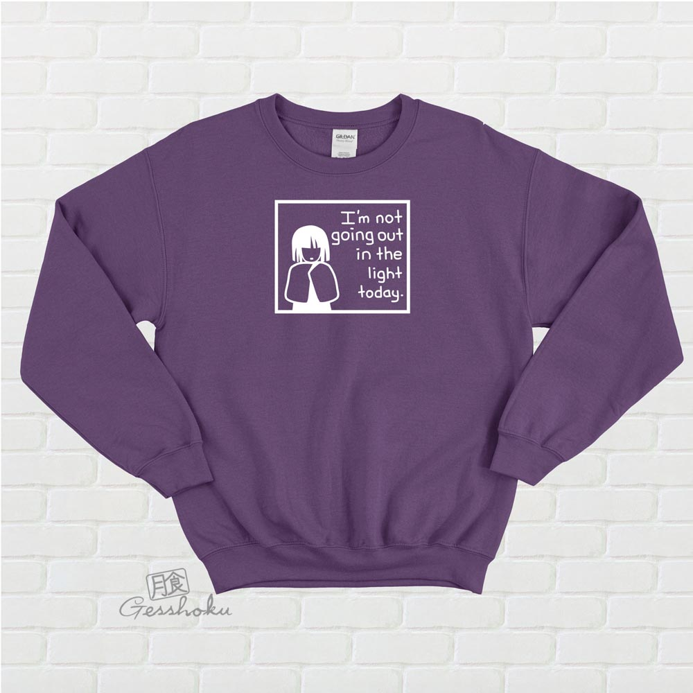 Not Going Out in the Light Crewneck Sweatshirt - Purple