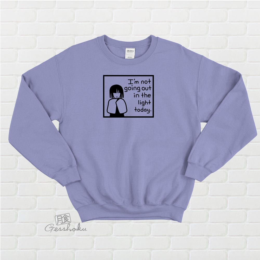 Not Going Out in the Light Crewneck Sweatshirt - Violet