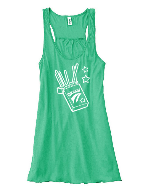 Okashi Kawaii Candy Flowy Tank Top - Green