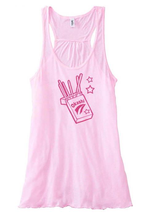 Okashi Kawaii Candy Flowy Tank Top - Light Pink