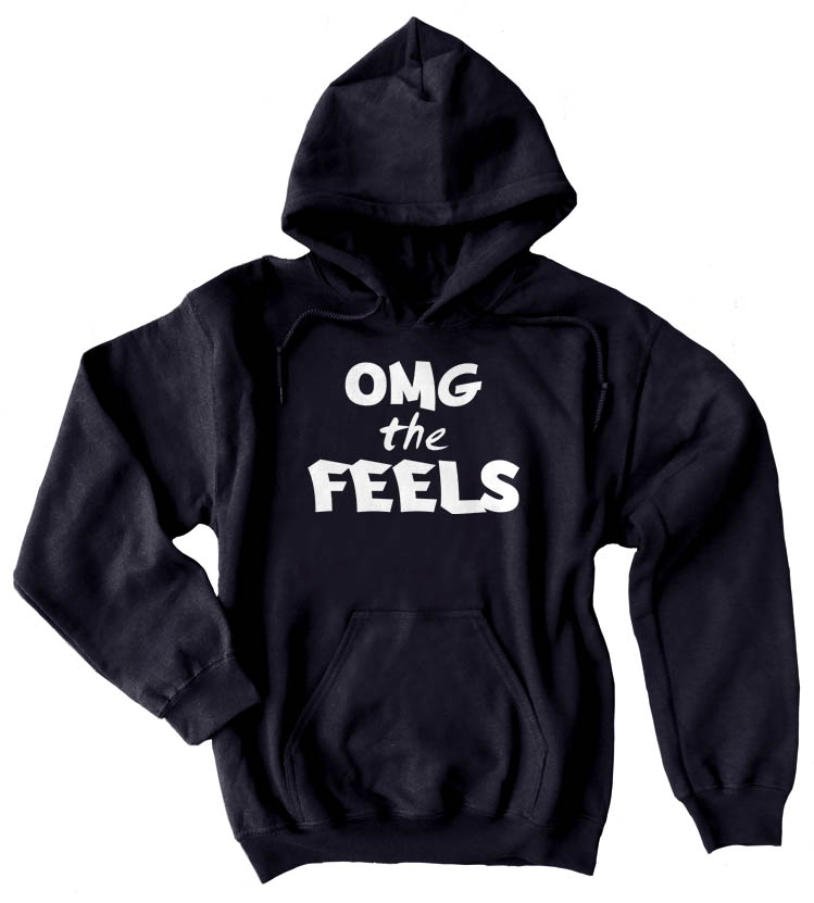 OMG the FEELS Pullover Hoodie - Black