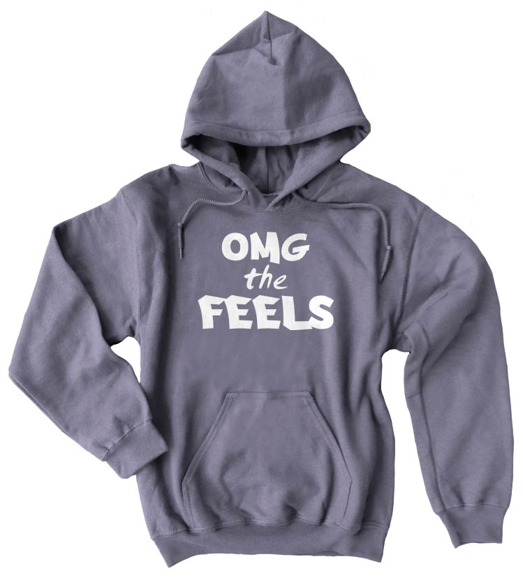 OMG the FEELS Pullover Hoodie - Charcoal Grey