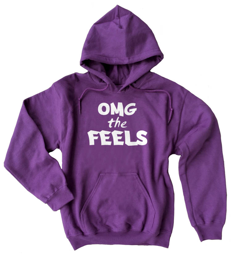 OMG the FEELS Pullover Hoodie - Purple