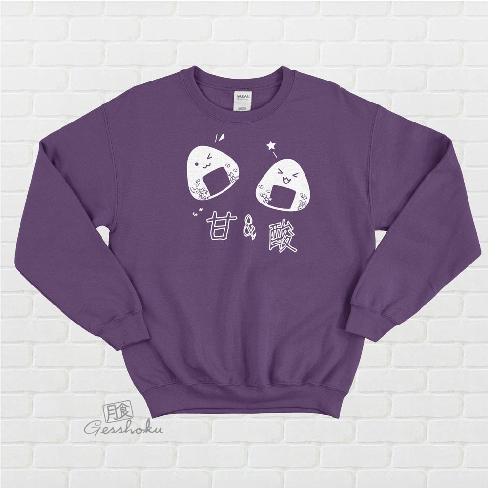 Onigiri Rice Balls Crewneck Sweatshirt - Purple