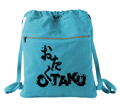 Otaku Cinch Backpack - Aqua Blue