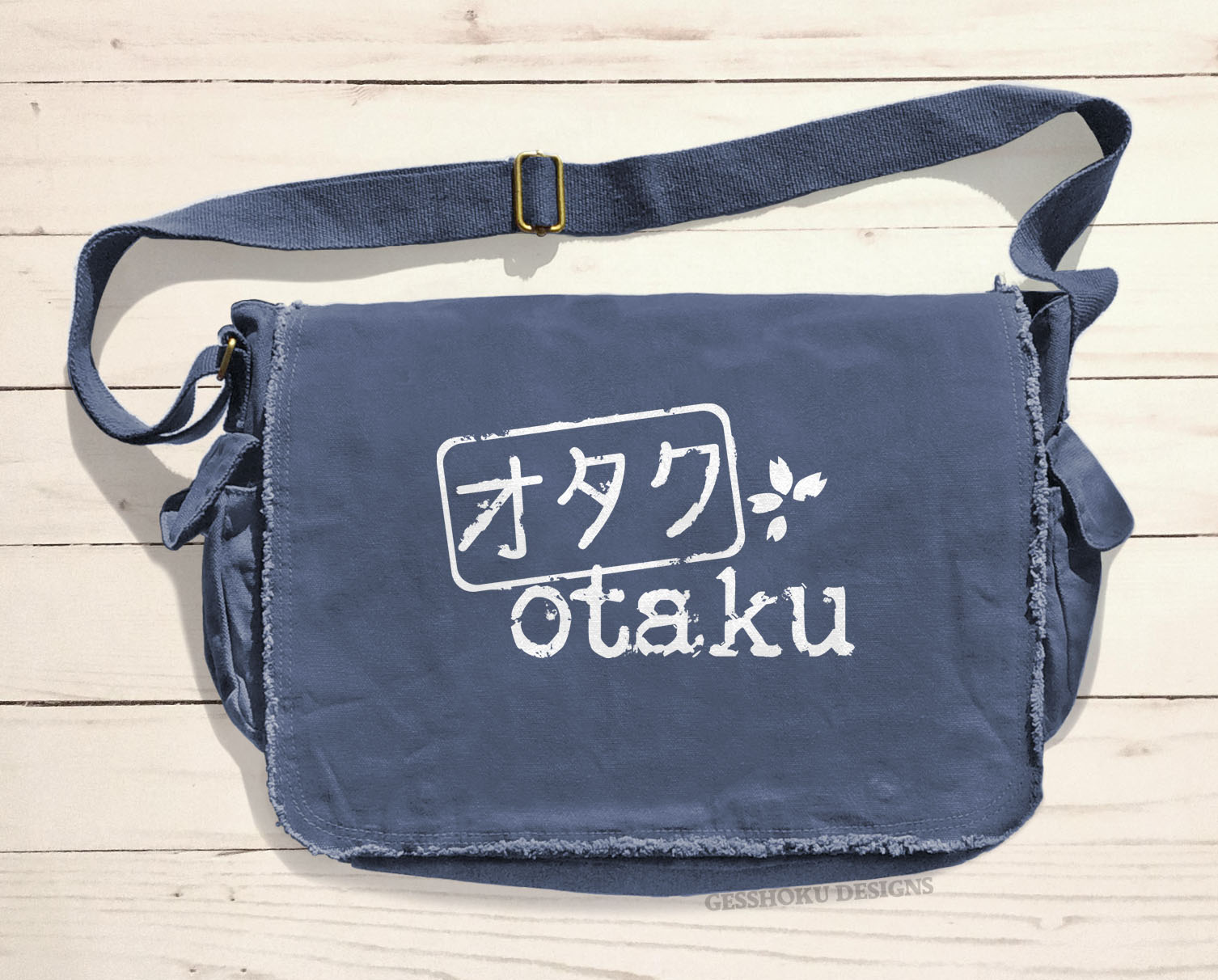Otaku Stamp Messenger Bag - Denim Blue