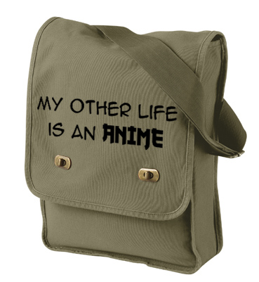 My Other Life is an Anime Field Bag - Khaki Green