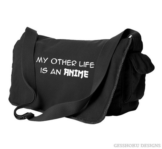 My Other Life is an Anime Messenger Bag - Black