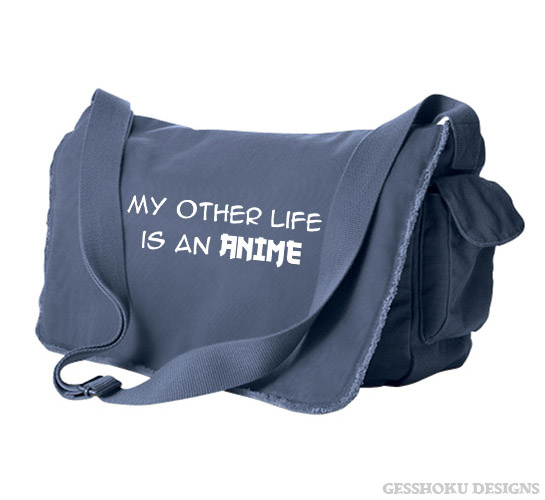 My Other Life is an Anime Messenger Bag - Denim Blue