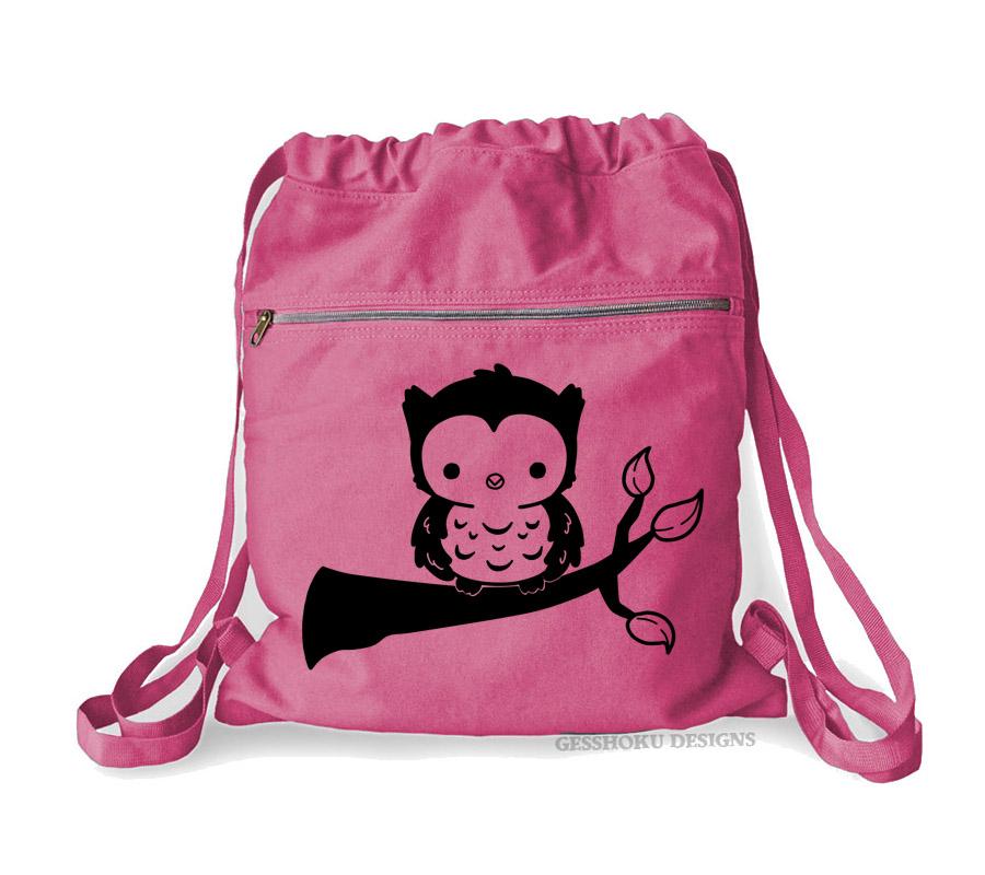 59bca9197ff7 Fluffy Owl Cinch Backpack - Raspberry